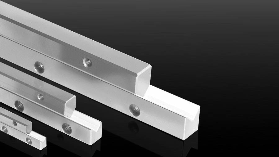 Plastic-coated sliding guides Type M/V | IEF-Werner