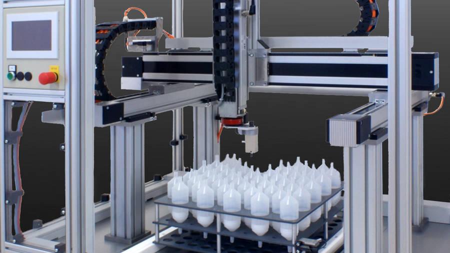 Sonderlösungen Abfüllautomat für Chemikalien | IEF-Werner