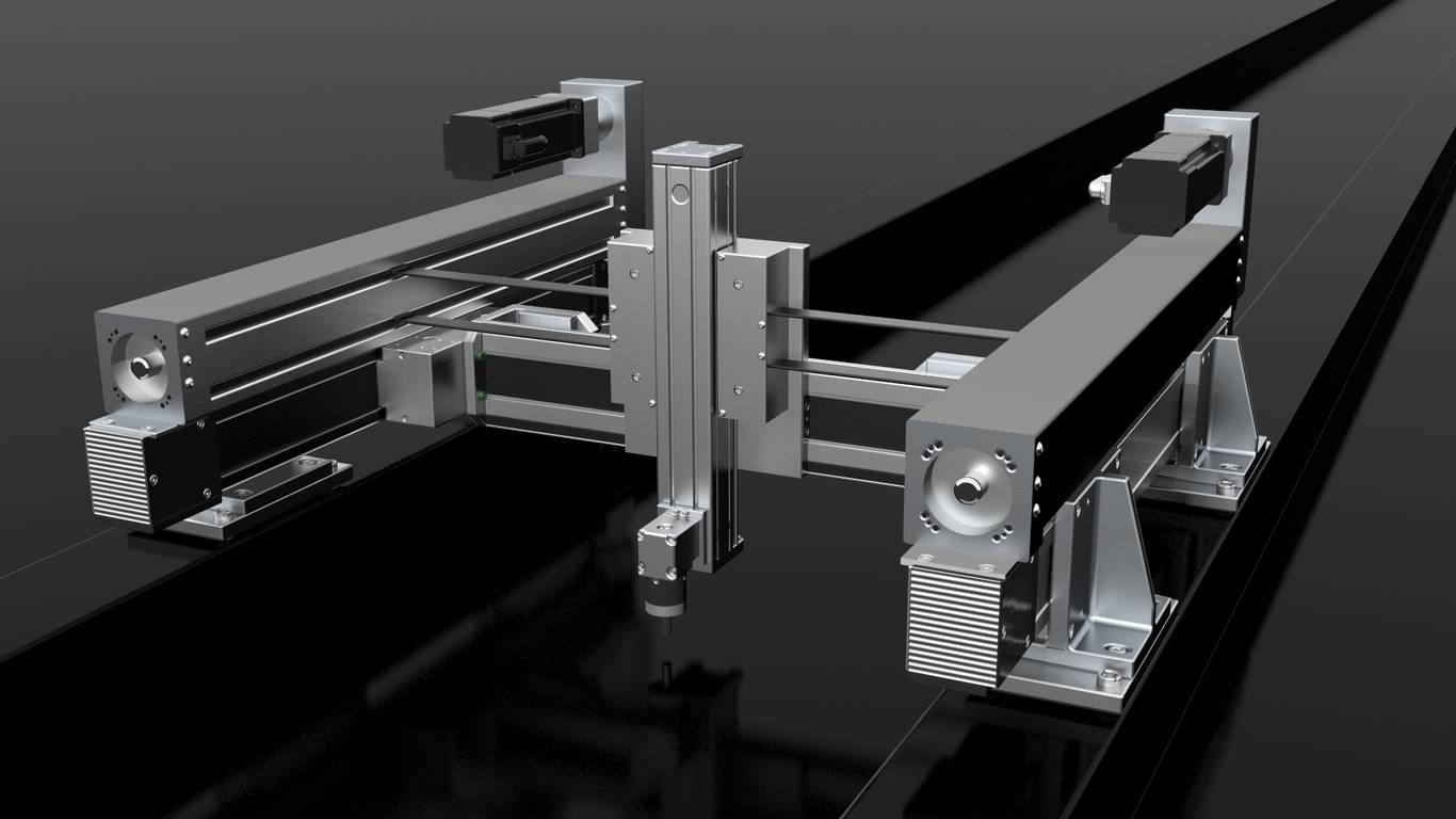 Positioniersystem H-Portal X/Y/Z/W-System | IEF-Werner