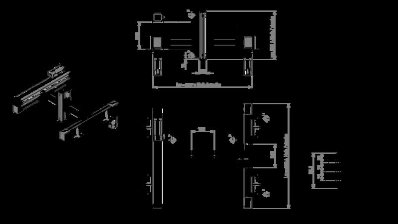 Zeichnung Positioniersystem H-Portal | IEF-Werner