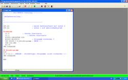 Programme editor