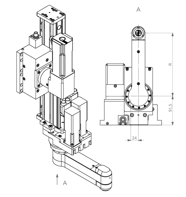 Schwenkarmodul rotaryARM | IEF-Werner