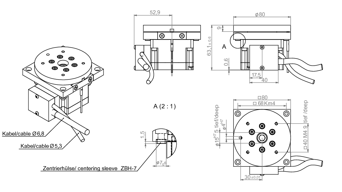 Drawing rotary table miniTURN 80 | IEF-Werner